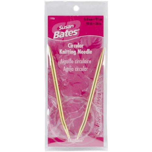 Susan Bates Silvalume Circular Knitting Needles 29 Inch - Size 10 (Needles Knitting Silvalume Circular Aluminum)