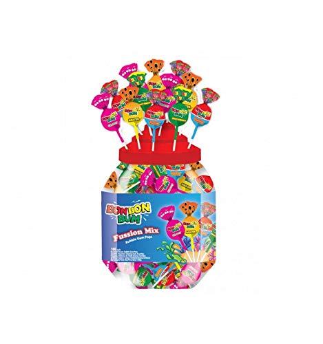 (Colombina Bon Bon Bum Fussion Mix Lollipops Jar, 100 ct )