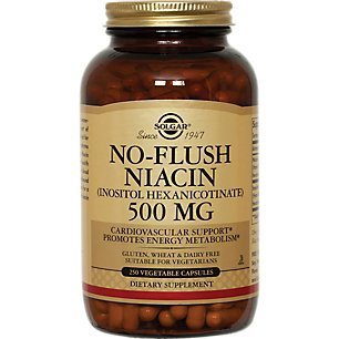 Solgar – No-Flush Niacin (Vitamin B3)(Inositol Hexanicotinate) 500 mg, 250 Vegetable Capsules