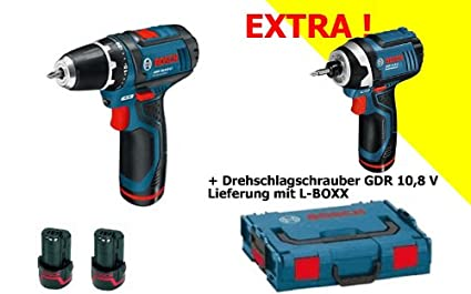 BOSCH GSR 10.8 GDR 10.8 - Kit de atornillador taladrador a batería ...