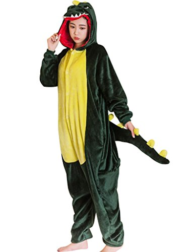 Warm Halloween Costumes For Women (Plus Size Christmas Halloween Costumes For Women Men Dinosaur Onesie Pajamas XL)