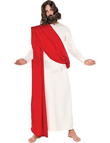 Underwraps Men's Jesus, White/Red, One Size ()