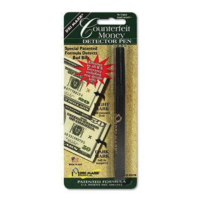 Smart Money Counterfeit Bill Detector Pen for Use w/U.S. Currency, Sold as 1 Each by Dri Mark