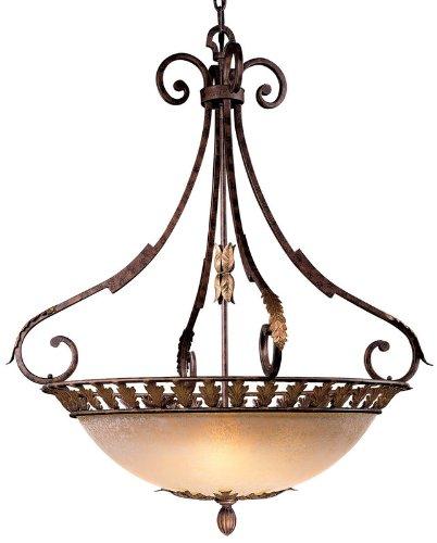 - Metropolitan N6242-355, Zaragoza Large Bowl Pendant, 5 Light, 300 Total Watts, Bronze