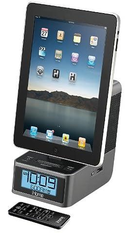 iHome iD37GZC 30-Pin iPod/iPhone/iPad Alarm Clock Speaker Dock (Ipod Dock With Clock)