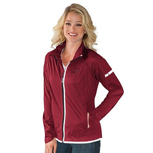 NCAA Arkansas Razorbacks Women's Batter Light Weight Full Zip Jacket, Medium, Cardinal
