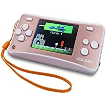 """wolsen @ 2.5"""" LCD Portable Handheld Video Game Console W/altavoz (Rose Gold +) Blanco (3x AAA) W/152en 1Juegos"""