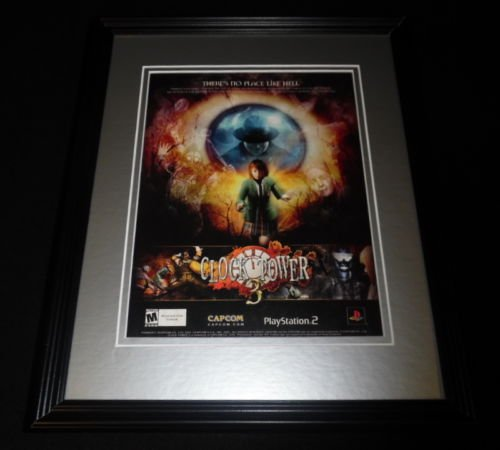 - Clock Tower 3 2003 PS2 Framed 11x14 ORIGINAL Vintage Advertisement