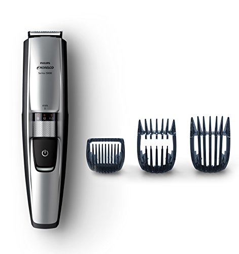 Cordless Washable Beard Trimmer (Philips Norelco Beard & Head trimmer Series 5100, 17 built-in length settings, hair clipping combs, BT5210/42)