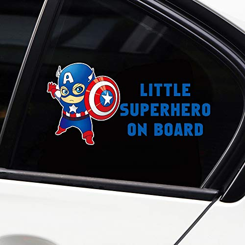vylymuses Little Superhero Baby On Board Stickers Reflective Car Stickers and Decals Car Styling Door Body Window Vinyl Stickers for Car Decoration Car Rear Window Stickers Car Decals (Type G 2010cm) ()