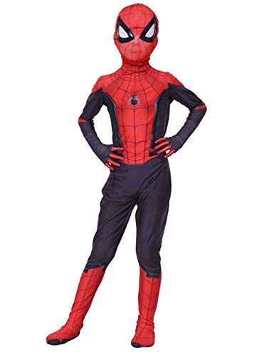 JAPANSCHOICE Kids Superhero Costume Suit 3D Spandex Unisex Jumpsuit Bodysuit for Kids Aged 5-13 (Far from Home, S (fit for Height 43.3