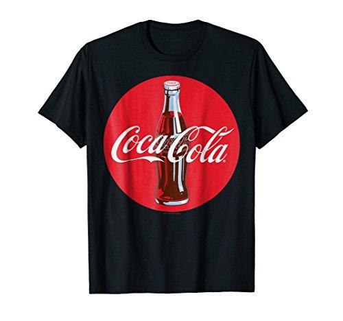 (Coca-Cola Red Circle Retro Bottle Logo Graphic T-Shirt)