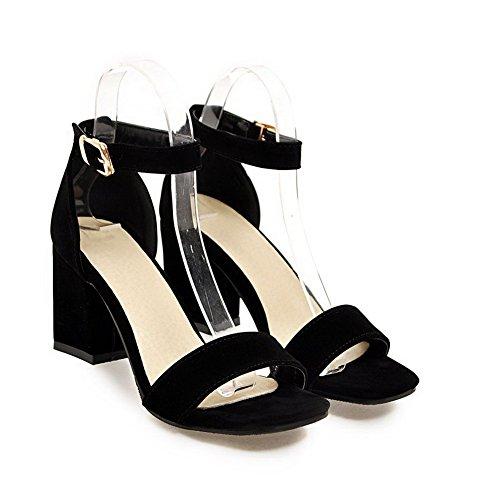 AdeeSu Womens Cold Lining Dress High-Heel Urethane Sandals SLC03806 Black AD3ELz