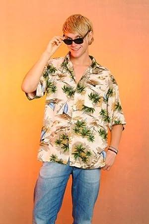 Camisa hawaiana beige para Hombre Talla XXL disfraz de hawaiana: Amazon.es: Juguetes y juegos