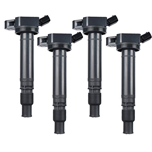 LQQDP Pack of 4 New Ignition Coil For Lexus Scion Toyota 2.5L 2.7L L4 3.0L 3.5L V6 4.0L 4.6L 5.7L V8 Compatible with UF507 C1596 ()