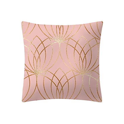 Wallpaper Room - 2019 Rose Gold Pink Cushion Cover Square Pillowcase Home Decoratio G Shipping De17 - Indian Pack Assorted Print Cushion Room Plastic Pink Embroidered Flower Rust Deer Bla