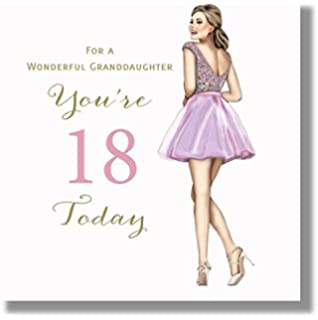 Happy 18th Birthday Greeting Card For A Wonderful Granddaughter