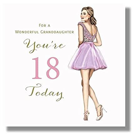 Amazon happy 18th birthday greeting card for a wonderful happy 18th birthday greeting card for a wonderful granddaughter large size 825 x 825 inches m4hsunfo