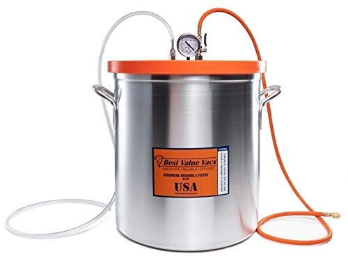 Best Value Vacs 10 Gallon Aluminum Resin Trap Vacuum Chamber by BEST VALUE VACS