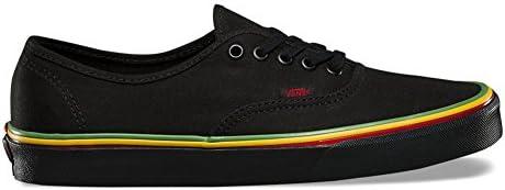 Vans Authentic Skate Shoes – Rasta Black Black