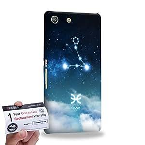 Case88 [Sony Xperia M5] 3D impresa Carcasa/Funda dura para & Tarjeta de garantía - Art Universe Blue Pisces 12 Zodiacal