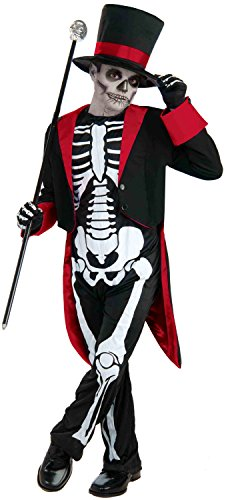 Mr. Bone Jangles Costume, Un solo color, Child Medium