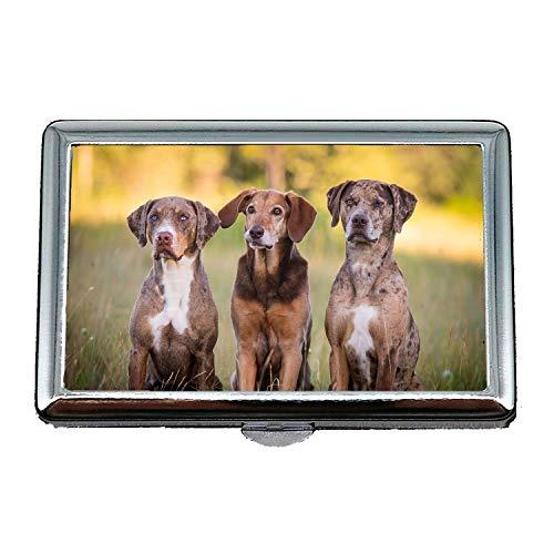 Cigarette Case,Hunting Dog Animal,Credit Business Card Holder Case Storage Box