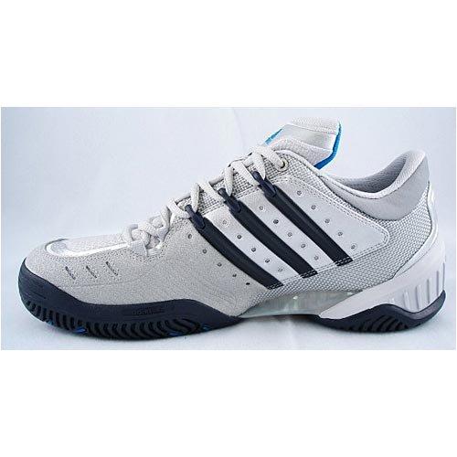adidas Barricade III [plateado/azul marino zapatos de tenis] -Uk 12