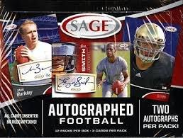 Sage Autograph Football Hobby Box (2013 SAGE Autographed Football box (24 autograph cards, HOBBY))