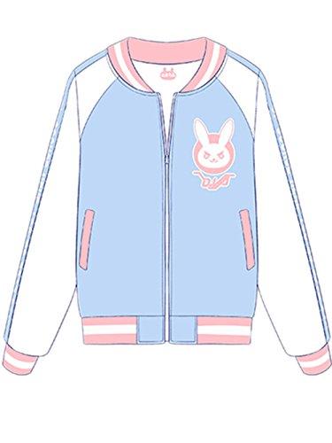 TISEA Girls' Baseball Uniform DJ Lucio Diva Bunny Cosplay Costume Accessories (US XS=Asian M, Baseball Jacket) by TISEA