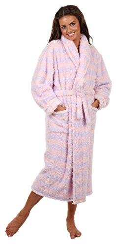 69ca3c8da3 VEAMI Women s Microfiber Fleece Bathrobe-Lavender Mist Fairytale ...