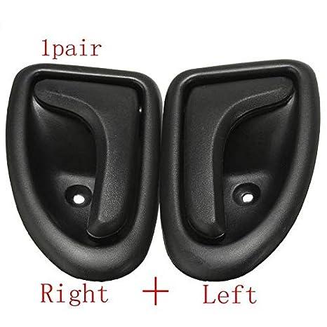 XuBa - Pomo de Mano Izquierda Derecha para Puerta Interior de Coche para Renault Clio: Amazon.es: Coche y moto