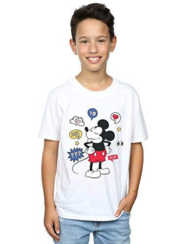 Mouse Garçon Tongue T Out Disney Blanc shirt Mickey 17EqHHw
