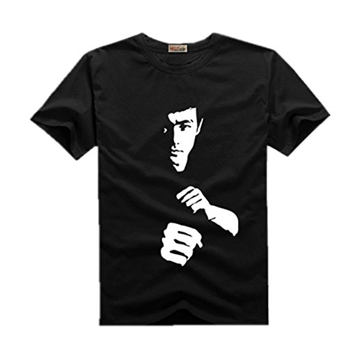 Kungfu Star Bruce lee Graphic Men's Fashion Cotton T-Shirt (Bruce Lee Outfits)