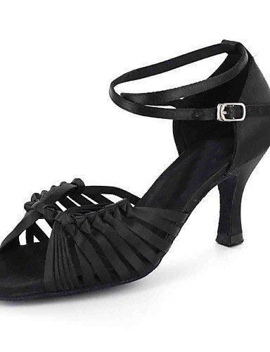 ShangYi Chaussures de danse(Noir / Blanc) -Personnalisables-Talon Personnalisé-Similicuir-Latine White