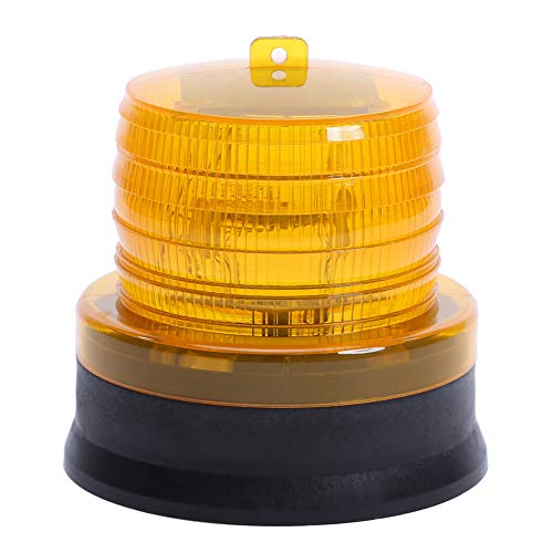 Traffic Warning Lights, Waterproof Solar LED Magnet Construction Signal Strobe Lamp for Outdoor (Yellow Light) For Sale