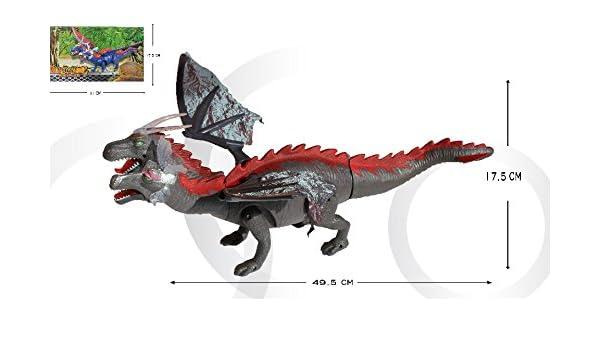 Planet Toys - Dinosaurio andador 6613 con 2 cabeza musica y luces ...