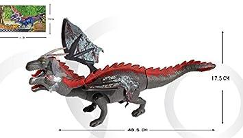 Planet Toys - Dinosaurio andador 6613 con 2 cabeza musica y luces