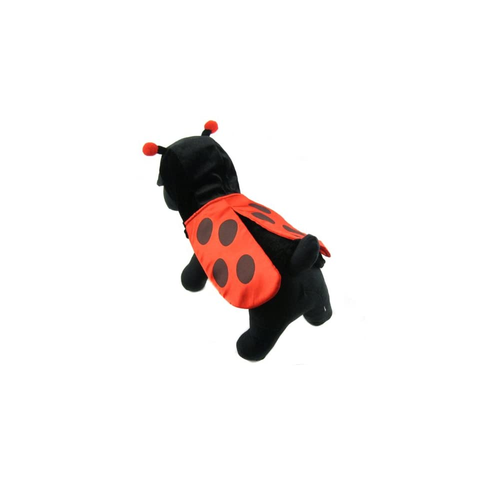 Happy Puppy Designer Dog Apparel   Little Ladybug Costume   Color Red, Size XS