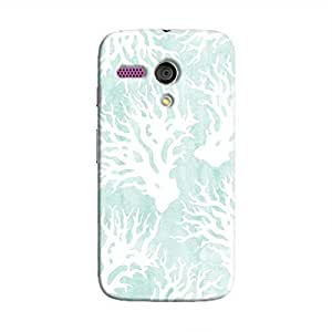 Cover It Up - Blue White Nature Print Moto G Hard Case