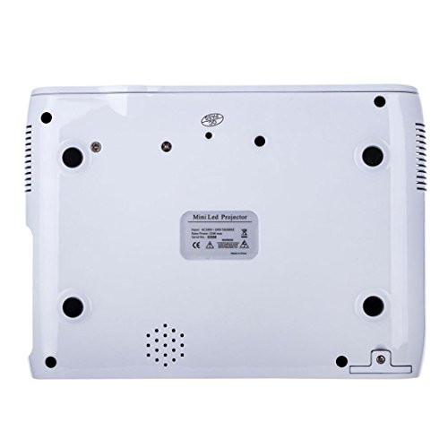 LED HD Micro Home Theater Projector ,Tuscom U80 1000lumens 1080P Multimedia Mini Portable HD Projector (White) by Tuscom (Image #8)