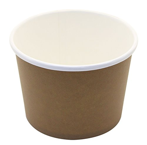 ice cream cups brown - 3