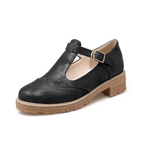 Hiking Shoes Casual Womens BalaMasa Pumps APL10555 Urethane Black Herringbone qWOtnnxg