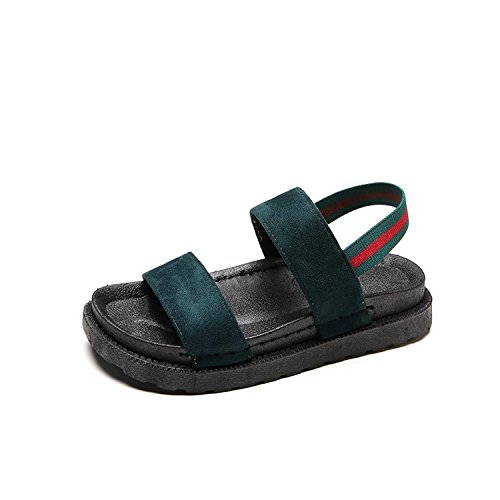 Ladies Sandals Rome Sandals Sandals Sandals Sandals Summer Students Flat Bottom with Rome Sandals B07DN7DST4 black Thirty-five 5cb8b8