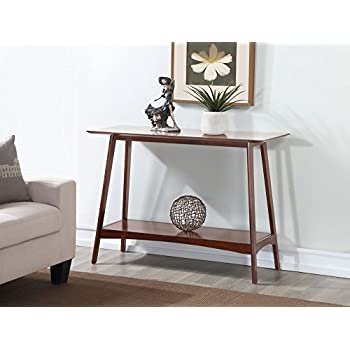 Stupendous Amazon Com Bhg Reed Mid Century Modern Console Table Pecan Machost Co Dining Chair Design Ideas Machostcouk
