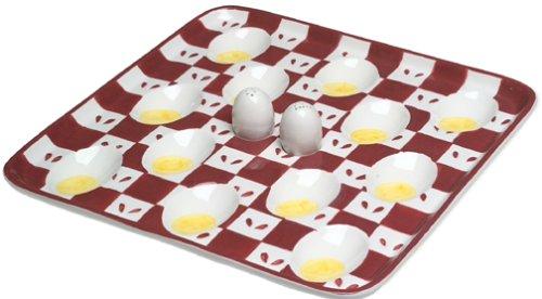Boston Warehouse BBQ Deviled Egg Plate by Boston Warehouse