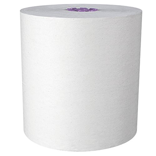 Scott Essential High Capacity Hard Roll Paper Towels (02001), Fast Change with Scott Essential Dispenser, Unperforated, White, 950' / Roll, 6 Rolls / Case, 5,700' / Case ()