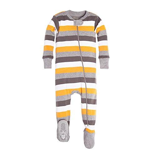 Burt's Bees Baby Baby Infant YKK Zip Front Sleeper, Tri/Color Stripe, 0-3 - Tri Best Shorts