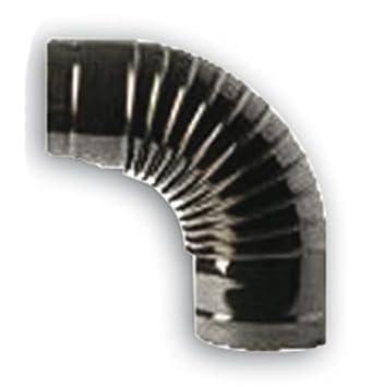 Codo a 90° para tubos estufa Ø 10cm Color Negro de chapa porcellanata: Amazon.es: Bricolaje y herramientas