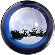 Waltz&F Crystal Christmas Deer Dome Paperweight Galss Globe Hemisphere Home Office Table Decora